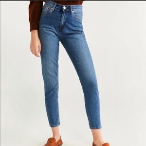 Mango high rise mom fit jeans